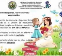 Por celebración del Día de las Madres el viernes 11/05 las instituciones educativas tendrán actividades hasta el mediodía