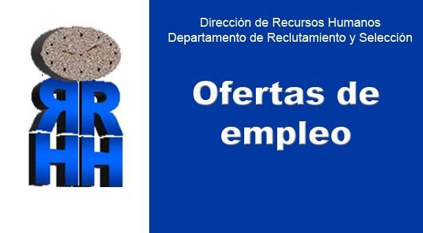 RRHH: Ofertas de empleo a Nivel público
