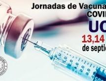 El 13, 14 y 15 de septiembre son las Jornadas de Vacunación contra COVID-19 para el personal activo de la UCV
